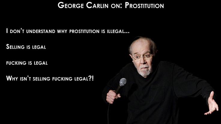 """<div class=""""photocap"""" style=""""text-align:center;width:100%;"""">Carlin lampooning the so-called """"logic"""" of the American Justice System.</div>"""